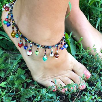 Hippie Beaded Anklet
