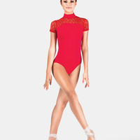 Free Shipping - Adult Lace Short Sleeve Leotard by BAL TOGS