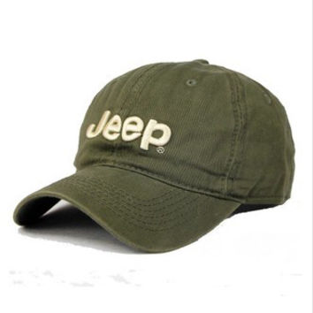 Perfect Jeep Women Men Embroidery Leisure Sport Sunhat Baseball Cap Hat