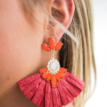 Dare To Be Bold Earrings, Red