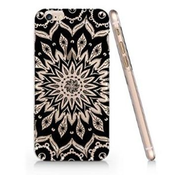 Black Mandala Slim Iphone 6 6S Case, Clear Iphone 6 6S Case Plastic Hard Case Unique Design-Quindyshop (AMSL15)