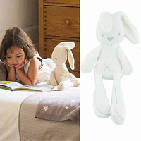 2016 Prmotion toy white cute rabbit soft plush toys baby doll sleeping comfort dolls toys gifts for children  interactive doll