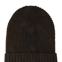 FOREVER 21 Waffle Knit Fold-Over Beanie