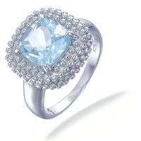 Vir Jewels Sterling Silver Blue Topaz Ring (2 CT)
