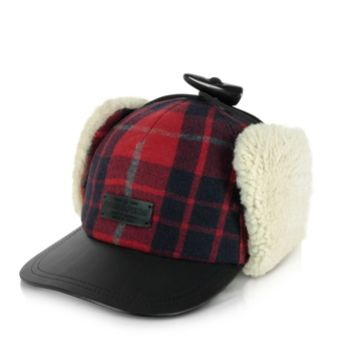 DSquared2 Designer Men's Hats Wool Leather and Shearling Men's Hat