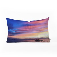 Deb Haugen Come Sail Away Oblong Throw Pillow