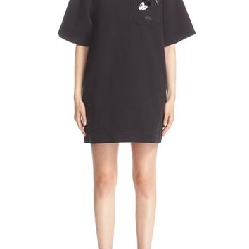 MARC JACBOS 'Tabboo' Embroidered T-Shirt Dress | Nordstrom