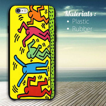 Keith Haring Pop Art iPhone 4/4S, 5/5S, 5C, 6 Series Hard Plastic Case