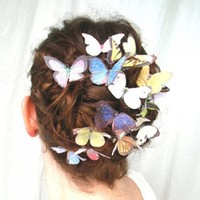 Exquisite Fresh Romantic Style Colorful Butterfly Shape Hairpin