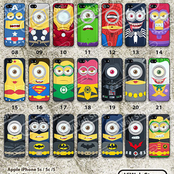 Despicable Me iPhone 5s Case, Superhero Minion iPhone 5 5c 5s Hard Case & Rubber Case,cover skin case for iPhone 5/5c/5s case