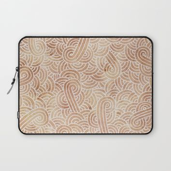 Iced coffee and white zentangles Laptop Sleeve by Savousepate