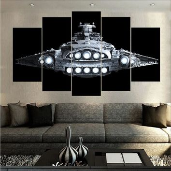 Star Destroyer Star Wars Space Canvas