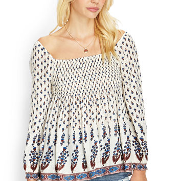 Bordered Floral Top