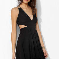 Sparkle & Fade Deep-V Cutout Skater Dress - Urban Outfitters