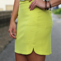 Double Up Lime Skirt