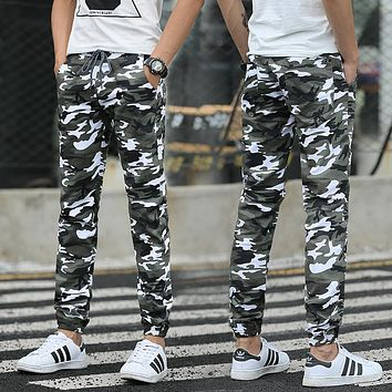 Men Casual Pants New 2017 Camouflage Slim Fit Army Camouflage Trousers Pencil Camo Pants Hip Hop Sweatpants Military Mens Jogger