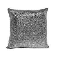 Metallic Stud Pillow - Silver
