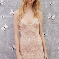 Bumble Bustier Dress in Rose Gold