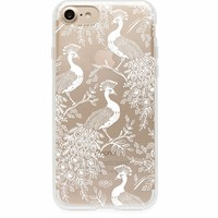 Clear Peacock Phone Case by RIFLE PAPER Co. | Imported