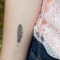 Feather Tattoo - Temporary Tattoo - Boho Style - Feather Tattoo