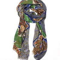 East Cloud Orange & Blue Mod Floral Scarf | zulily