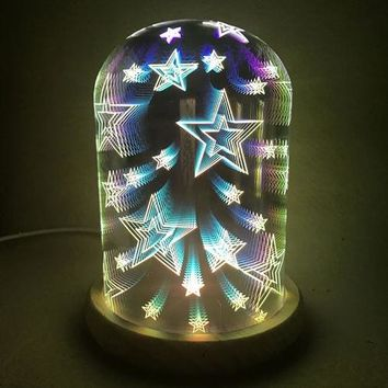 3D Display Starry Glass LED Dome