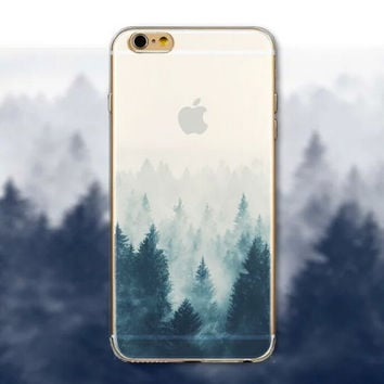 Pine Forest iPhone 5 5S iPhone 6 6S Plus creative case + Nice Gift Box -125