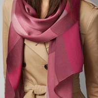 One-nice™ NWT Burberry silk-satin scarf original $395