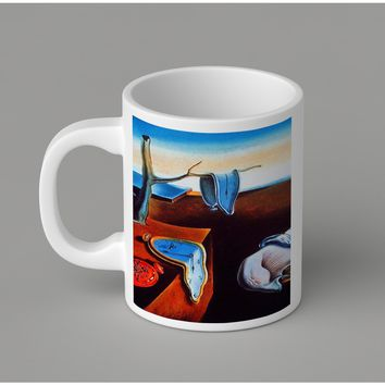 Gift Mugs | Melting Clocks Salvadore Dali Ceramic Coffee Mugs