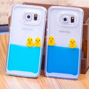 Swimming Yellow Duck Phone Case for Samsung Galaxy
