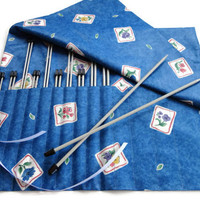 Knitting Needle Case Straight Needle Organizer Roll Up