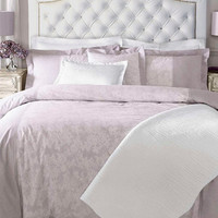 """Tufted headboard """"Bella"""" with rhinestone buttons and accent nails, made to order"""