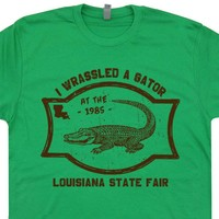 Alligator Wrestling T Shirt Vintage Gator Wrestling T Shirt