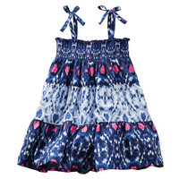 2-Piece Smocked Tiered Dress