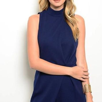 Perfectly Tailored Navy Romper FINAL SALE!