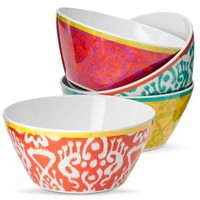 Mudhut™ Ikat Melamine Cereal Bowl Set of 4