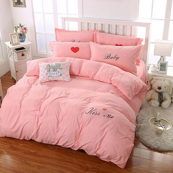 Microfiber Bedding Sets Quilt Cover Bed Sheet Pillow Cover Duvet Cover Set Reactive Printing Cartoon Home Bedroom Soft Bed Linen