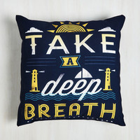 Nautical Calm to Your Senses Pillow by ModCloth