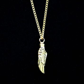 Angel Wing Gold Pet Urn Necklace