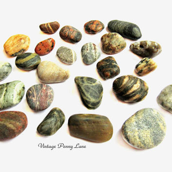 Lot Small Swirly Beach Pebbles, Rocks, Stones, Lake Ontario