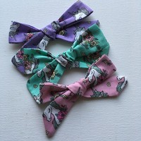 Unicorn Tie knot hair bows