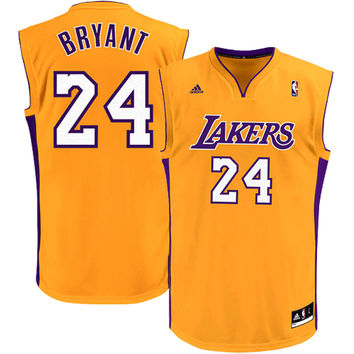 Youth Los Angeles Lakers Kobe Bryant adidas Gold Replica Home Jersey