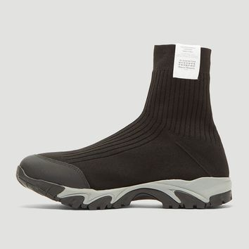 Black Minimal Sock Sneakers by Maison Margiela