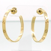 Cartier Love Pierced Earrings K18YG B8028200 GS3593