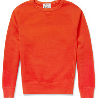 Acne - College Loopback Cotton-Jersey Sweatshirt | MR PORTER
