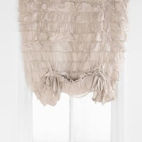Urban Outfitters - Waterfall Ruffle Draped Shade Curtain
