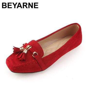 BEYARNE new arrival fashion women single shoes brand spring summer flat heel soft work