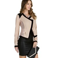 Taupe Lady Chic Moto Jacket