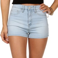 Sale-lt. Denim High Rise Shorts