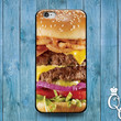 iPhone 4 4s 5 5s 5c 6 6s plus iPod Touch 4th 5th 6th Generation Cool Fun Food Bacon Cheese Burger Funny Custom Phone Cover Cute Gift Case